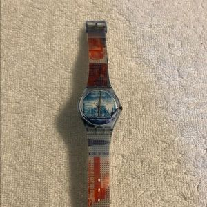 Swatch Watch with Taj Mahal face